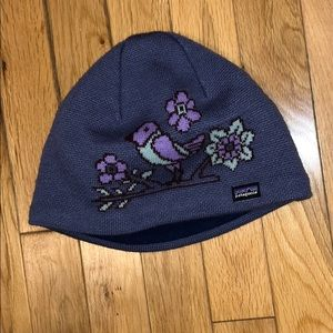 Patagonia girls kids beanie hat
